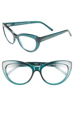 kate spade new york 'kalena' 53mm cat eye reading glasses available at #Nordstrom