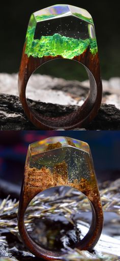 So different but so similar wooden rings