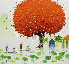 Painting by Phan Thu Trang