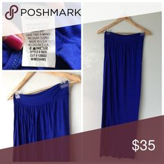Royal Blue Tulip Maxi Skirt Medium Nice skirt great condition 🍥Reasonable offers or bundle 3 or mor get 20% less Skirts Asymmetrical