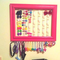 Hair accessory organizer by SullyLane on Etsy, $30.00