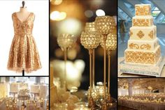 Colour Inspiration: All that Glitters IS Gold | Sugar! Weddings