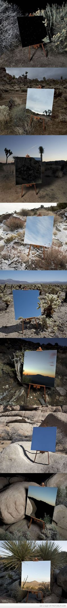 Photographs Of A Mirror On An Easel That Look Like Painting.