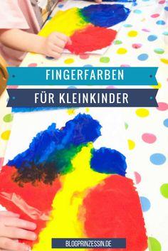 Fingerfarben für Kleinkinder und Babys. DIY