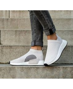 Adidas NMD CS2 Primeknit Trainers In Pearl Grey