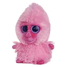 YooHoo And Friends 8 Inch Plush Pink Gorilla By Aurora at Stuffed... ($12) ❤ liked on Polyvore featuring stuffed animal