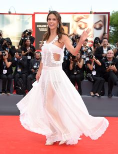 At the opening ceremony and premiere of Everest.    - ELLE.com