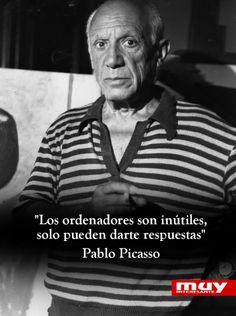 Algunas frases geniales de Picasso: http://www.muyinteresante.es/cultura/arte-cultura/articulo/ocho-frases-geniales-de-pablo-ruiz-picasso #quotes #frases