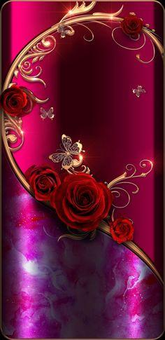 Pattern Sfondi Wallpaper…By Artist Unknown… Gothic Wallpaper, Rose Gold Wallpaper, Flower Phone Wallpaper, Red Wallpaper, Butterfly Wallpaper, Heart Wallpaper, Colorful Wallpaper, Cellphone Wallpaper, Wallpaper Backgrounds