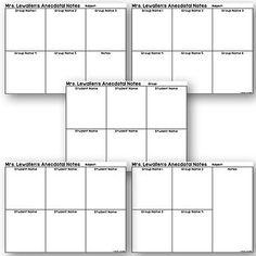 Editable anecdotal note templates classroom assessment by the editable anecdotal note templates maxwellsz