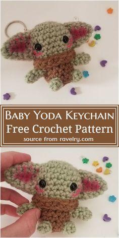 Easy Beginner Crochet Patterns, Quick Crochet, Cute Crochet, Crochet Hooks, Crochet Key Chain, Crochet Animal Patterns, Stuffed Animal Patterns, Crochet Patterns Amigurumi, Crochet Animals