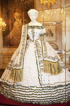 A replica of Empress Elisabeth's wedding-eve dress.    The Sisi Museum, Vienna, Austria.