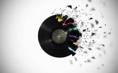vinyl record tattoo - It looks good but I'm not so sure  about getting this tattooed on my skin.