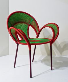 Banjooli chair by Sebastian Herkner $2000/ea  Handwoven seats in Senegal from vivid fishnet yarns, each is unique
