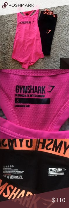 Gymshark bundle - tank top and coral leggings Original gymshark coral leggings, size medium. Worn less than 8 times. Hot pink racerback tank, size small. Never worn. Priced higher because these are both discontinued! gymshark Pants Leggings