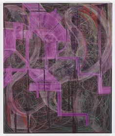 Joanne Greenbaum, Untitled, 2014, oil, ink and acrylic on canvas, 60 x 50 inches