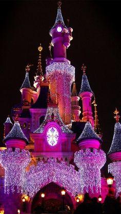 Disney Castle at Christmas.