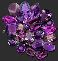 Amethyst    Is a very popular crystal quartz stone. Amethyst is considered to be a stone of spirituality and contentment. It can help raise a lower vibration energy to a higher one.