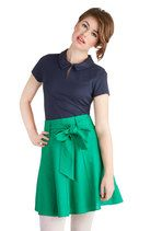 Musee Matisse Skirt in Green | Mod Retro Vintage Skirts | ModCloth.com