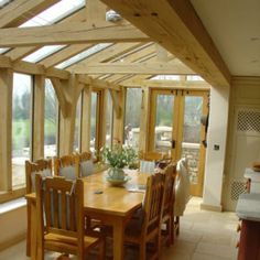 Carpenter Oak & Woodland handcraft bespoke oak framed garden rooms and oak conservatories that give you a beautiful addition to your home.