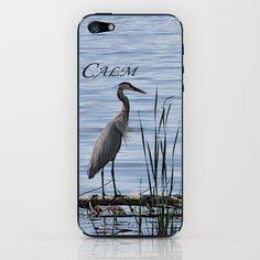 Blue Heron iPhone & iPod Skin by Vikki Salmela - $15.00 #phone #photography #blue #bird #lake #calm #gift #typography #society6 #new