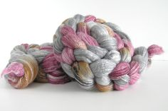 Falkland Rose Combed Top/Roving for Spinning or Felting - Wool Fiber - Hand dyed by SixFingeredKitty on Etsy