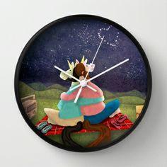 Star Gazing Unicorn Wall Clock