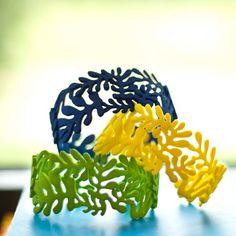 La Gerbe 3D printed Bracelet by Dyvsign on Etsy, €59.95