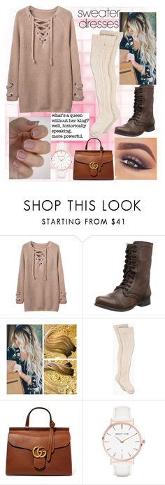 """Untitled #99"" by mariangela06 ❤ liked on Polyvore featuring WithChic, Steve Madden, Mary Kay, UGG, Gucci and Abbott Lyon"