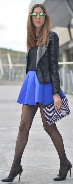 Choies Structured Pleats Mini Skirt by Silvia's closet