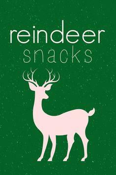 Reindeer Snacks Printables! | The Wood Connection Blog