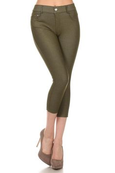 4af268946d6d0 Jean Capri jegging with classic silhouette construction. It is smooth  stretch and fits like a