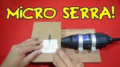 Como transformar uma micro retífica em uma serra circular de bancada!