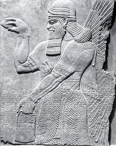 Neo-Assyrian ca. 883–859 BCE Mesopotamia, Nimrud: Assyrian  Gypsum alabaster RELIEF: 64 5/8 x 50 1/2 x 3 in.