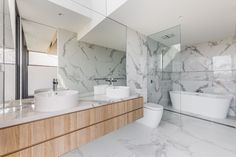 Slipway Road / Projects / Polytec Modern Bathroom Design, Bathroom Interior, Double Vanity, Projects, Home, Log Projects, Blue Prints, Ad Home, Homes