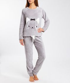 2 pieces pyjamas GREY GIRLY GREY Kids Nightwear, Lingerie Sleepwear, Cozy Pajamas, Pyjamas, Pijamas Women, Boutique Lingerie, Night Suit, Jean Shirts, Girly