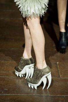 "This shoe, aptly called ""The Fang,"" is Dutch designer Iris van Herpen's take on a microscopic organism."