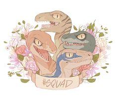 Raptor Squad by CuteSkitty.deviantart.com on @DeviantArt