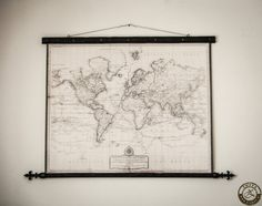 """Etsy Neutral Colored World Map 1808 