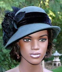 Flapper Hat Edwardian Hat design by Darna by eastangelharborhats, $159.00