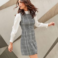 Take the stress out of getting dressed in the morning with our new workwear. 🖊 Checks are here to stay this season, look out for this… Playsuits, Jumpsuits, Summer Work Wear, Jumpsuit Dress, Workwear, Get Dressed, Bridal Gowns, Cold Shoulder Dress, Stress