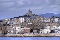 Marseille et Notre Dame de la Garde Provence, Second Empire, France, Chapelle, Road Trips, Paris Skyline, Vacations, Cities, Places
