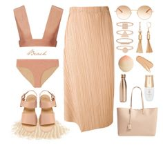 """""""Playarincón"""" by linjimenez ❤ liked on Polyvore featuring CALi DREAMiNG, Jil Sander, Garrett Leight, Accessorize, Simply Vera, Tony Moly, Yves Saint Laurent and S'well"""