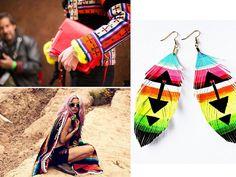 love these earrings...diy mexican blanket 3 by apairandaspare, via Flickr
