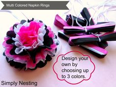 150 Multi Colored Tissue Paper Napkin Rings by SimplyNesting, $187.50