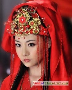 #Asian Fashions   Follow #Professionalimage #EventPhotography ~ Ancient Chinese Wedding Phoenix Crown