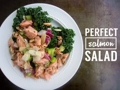 Perfect Salmon Salad | Light, healthy salad inspired by Ina garten #salmon #salad