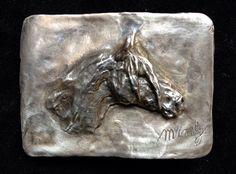 Criollo horse belt buckle by Marcela Ganly Belt Buckles, Sculpture Art, Bronze, Horses, Statue, Jewelry, Jewlery, Bijoux, Schmuck