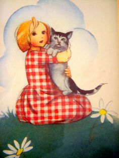 Martta Wendelin Son Chat, Picasa Web Albums, Picture Postcards, Ad Art, Old Paintings, Child Day, Cat Drawing, Children's Book Illustration, Vintage Pictures