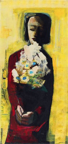 The bouquet by Charles Blackman from Queensland Art Gallery